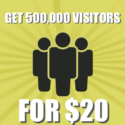 Get 500,000+ visitors to your website via Social Media or Keywords