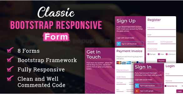 Bootstrap Responsive Form
