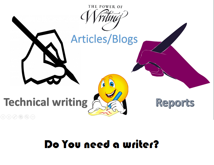 Do SEO Article Writing,  Blog Writing,  Content Writing, Scientific & Technical Writing.