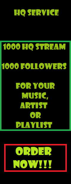 1000 Playlist Artist Followers and Play Service