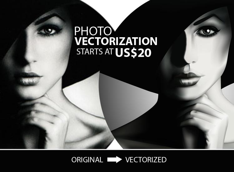 Retracing of image into vector