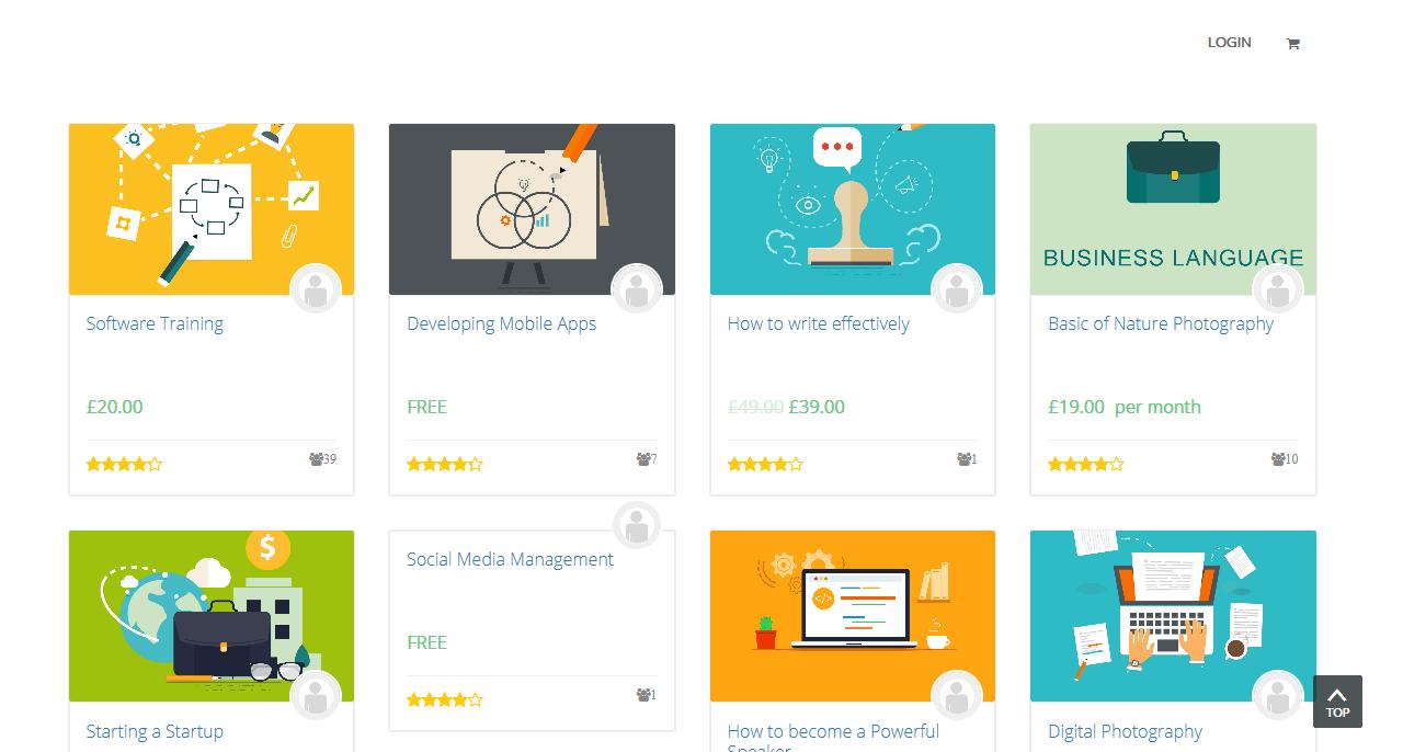 Create online course site in wordpress