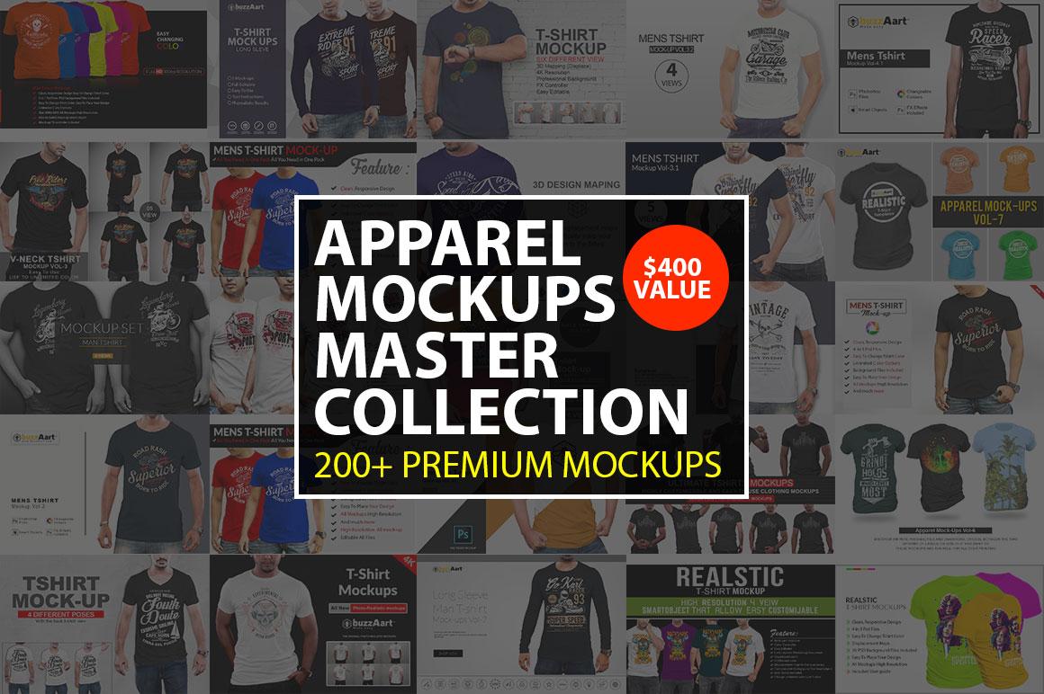 200+ T-shirt Mock-Ups