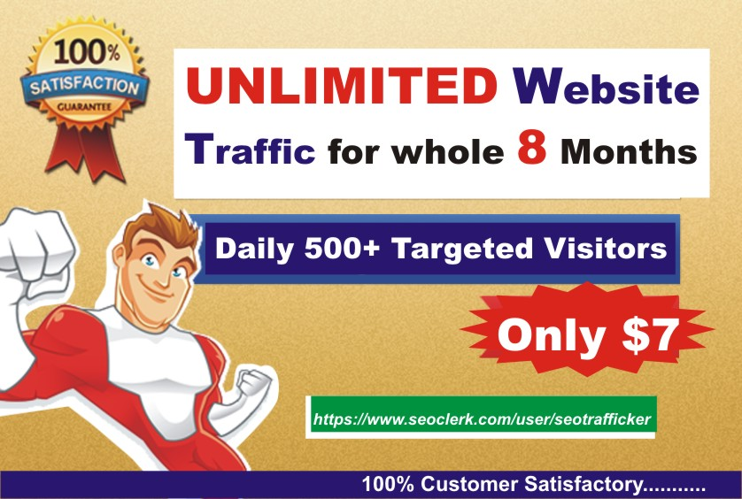 Unlimited TARGETED Daily Real Human Website TRAFFIC f...