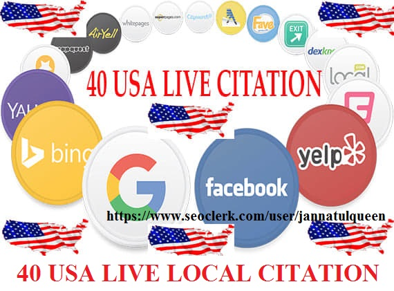 Create 40 USA Live Local Citation for Local Business