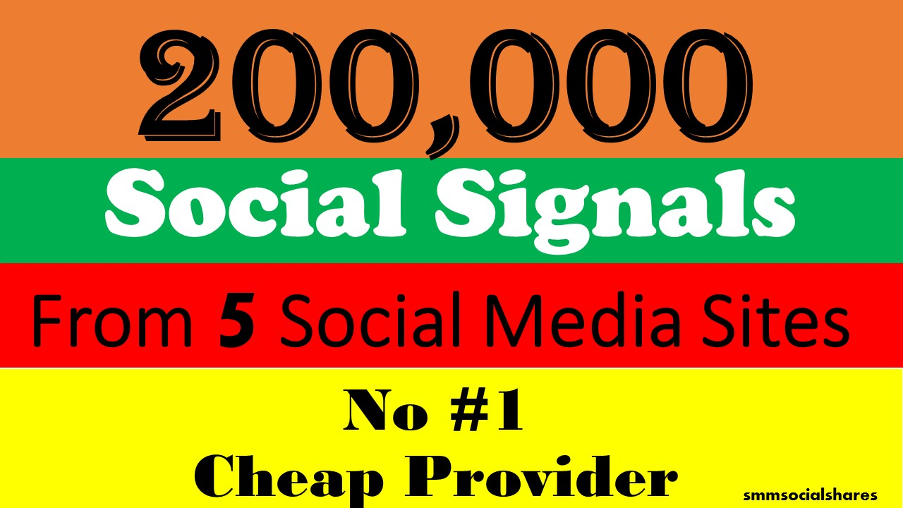 200,000 Mixed LifeTime social Signals From 5 Social Media for Cpa Affiliate Marketing & Business Promotion benefit To boost SEO site Traffic & Shares Bookmarking Backlink Most boost Google Ranking