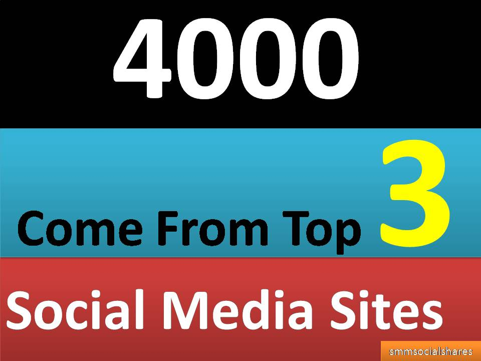 4,000+ Mixed Seo Social Signals PR9 come from Top 3 social media sites Bookmarks