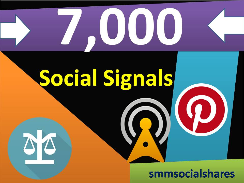 Limited Time Offer 7,000 Real SEO Social Signals PR9 Pinterest Share No1 Social Media Bookmark