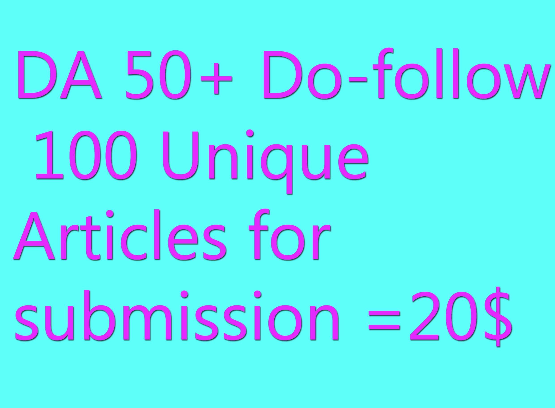 DA 50+ Do-follow  Eye Catching Back link