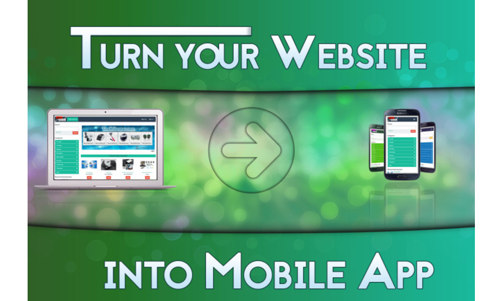 turn your website into android app