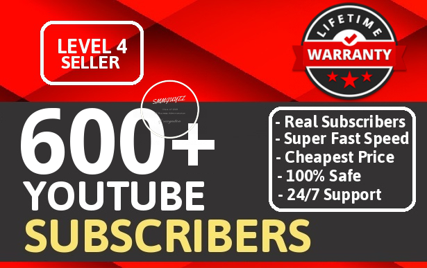 Add Real 600+ High Quality Youtube Subs cribers NON DROP LIFETIME GGUARANTEE With Extra Bonus