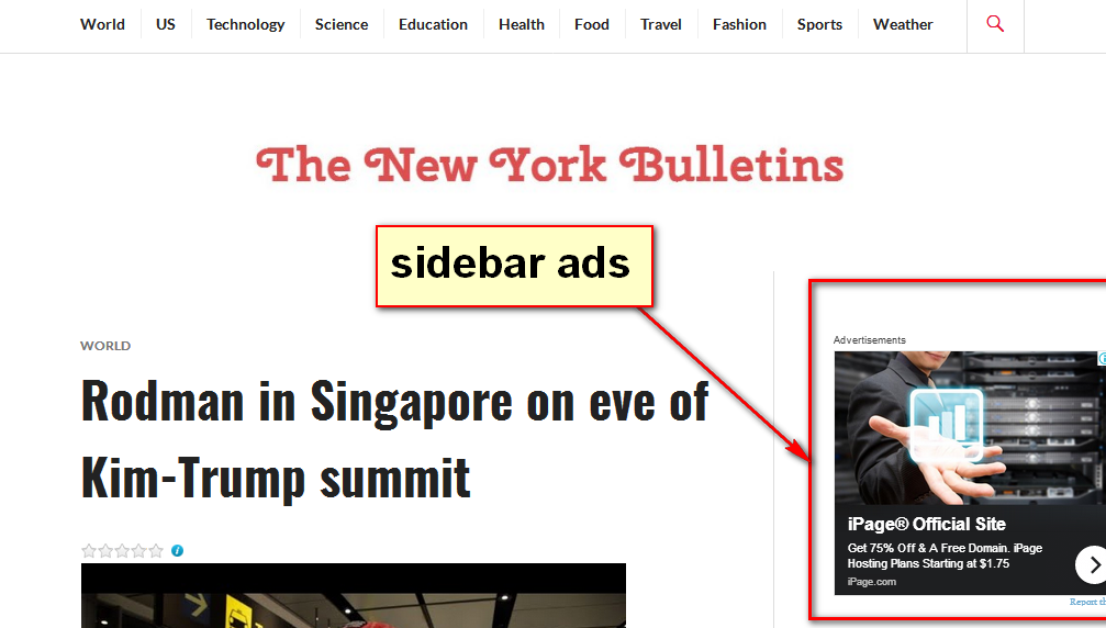 advertise your banner on a news bulletin site for 1 month