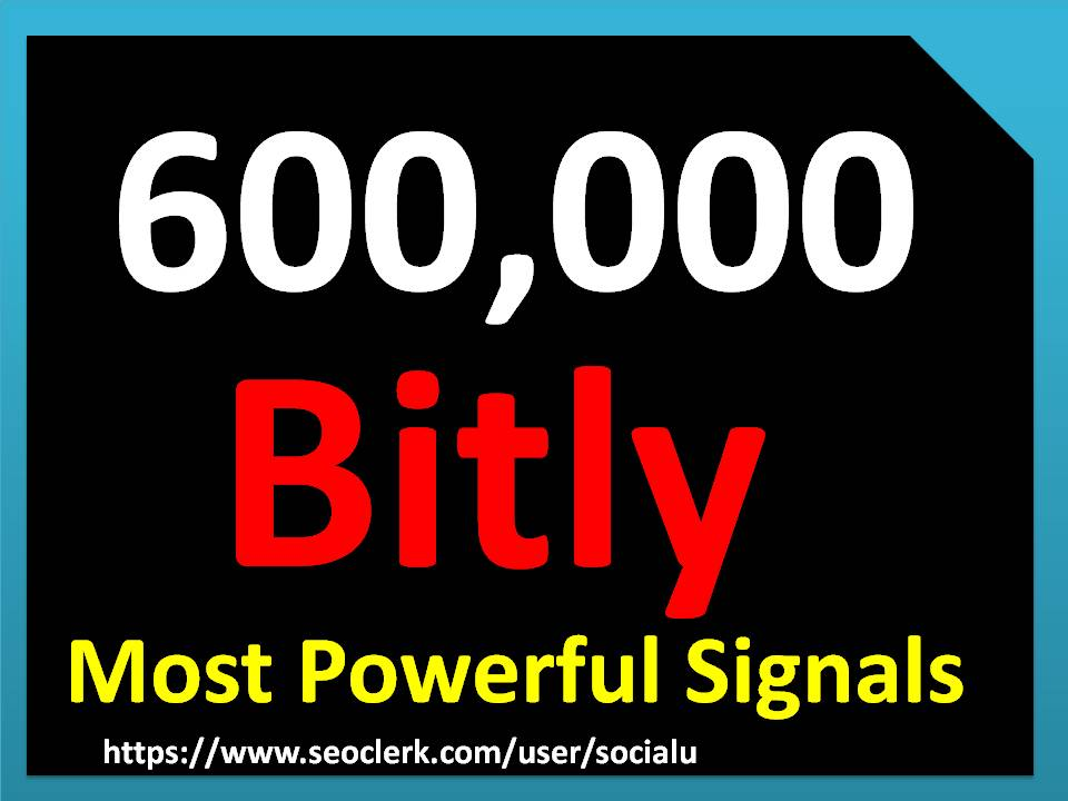 TOP 600,000 bitly SOCIAL SIGNALS With NUCLEAR SEO Package