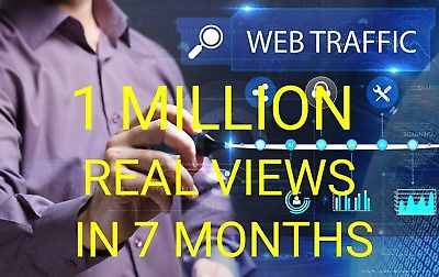 Get 1 Million 1,000,000 Visitors Traffic within 10 days
