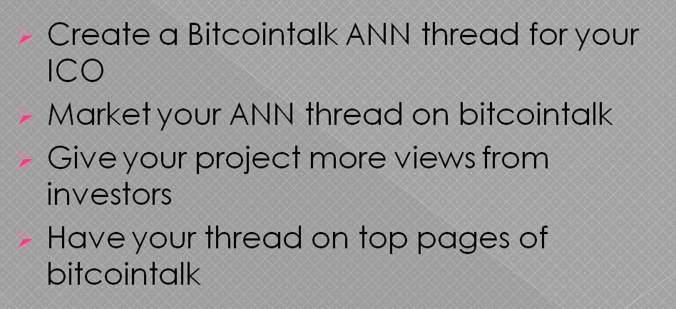 I will create and market your bitcointalk ann thread