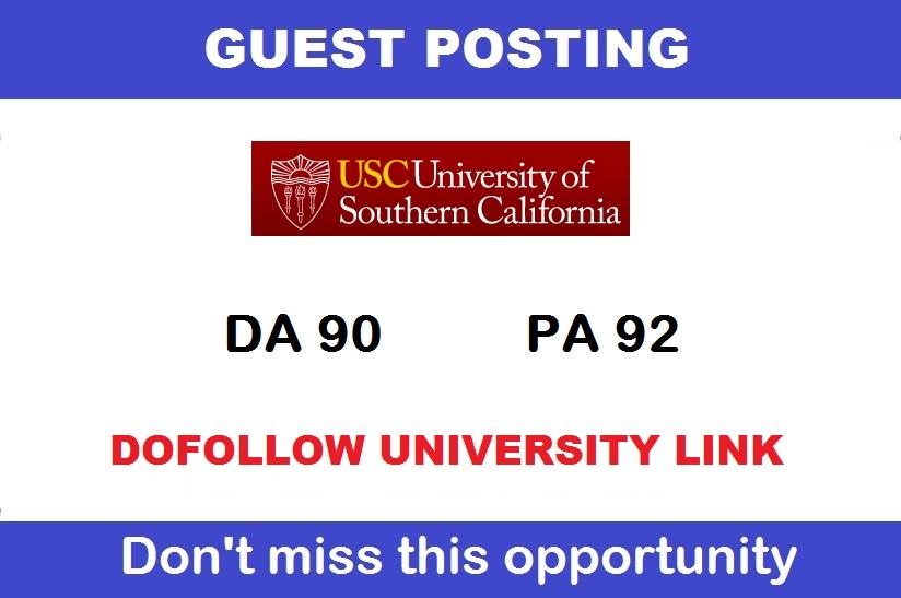 Guest post on California edu University USC. edu DA 90 Dofollow