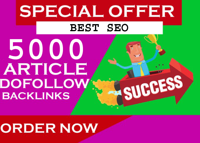 5000 Contextual Backlinks From Article Directories
