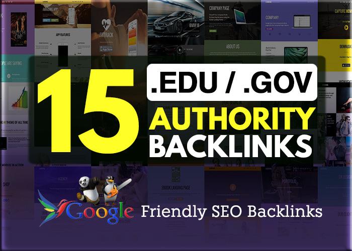 15. EDU /. GOV High Authority Backlinks