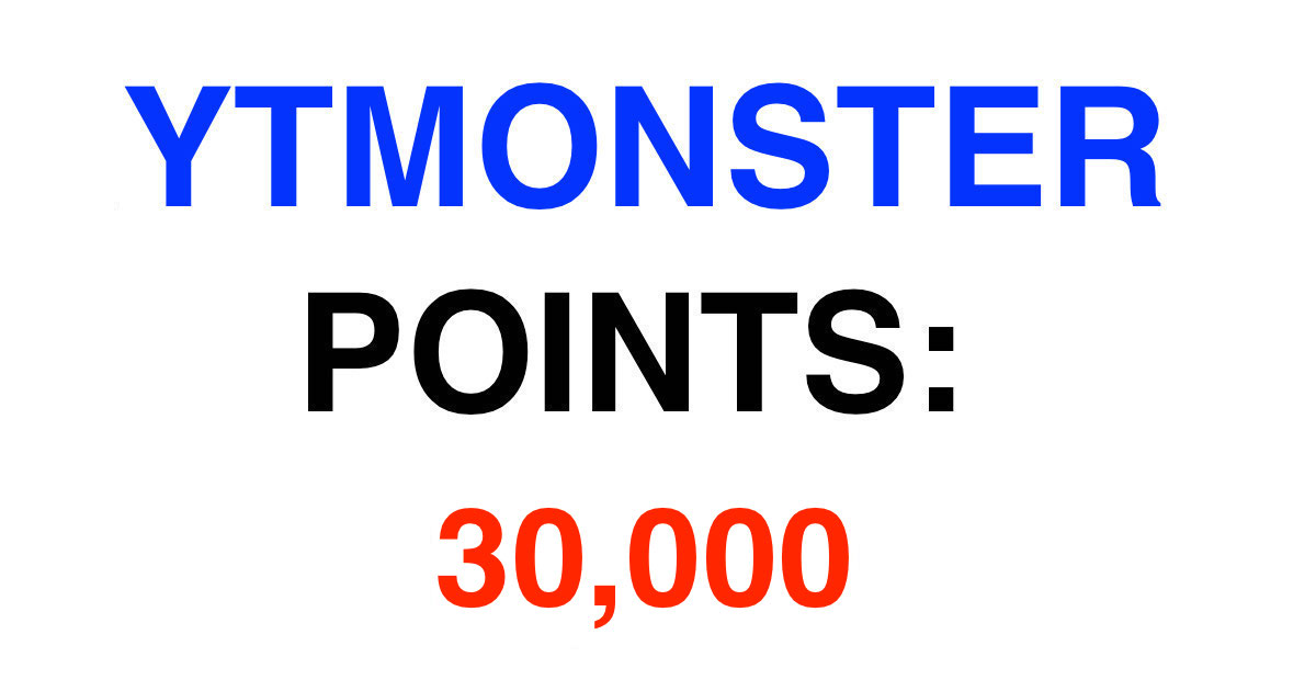 I will present 30k monster points account