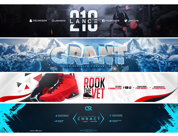 Design 2 awesome youtube banner or social media cover under 24 hours