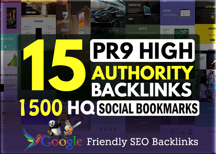 15 PR7-9 + 1500 HQ Social Bookmarking backlinks