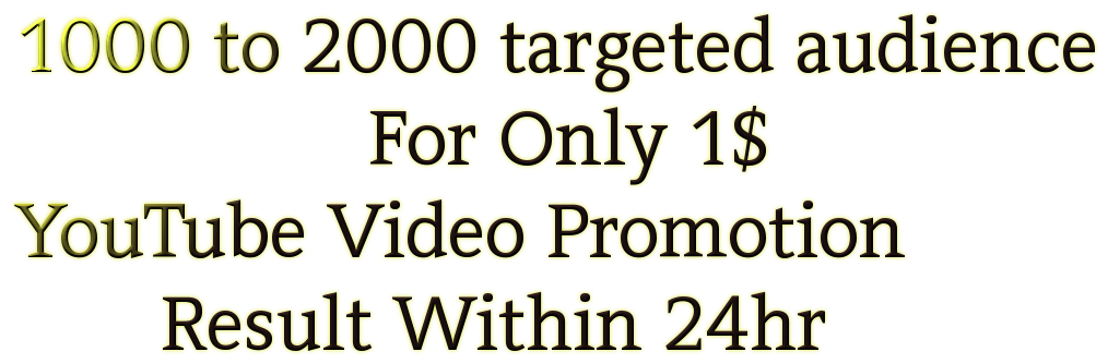 Promote video to an audience of 1,000 2,000 people