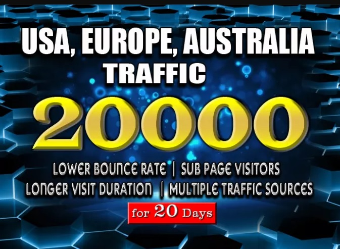 Bring real usa, uk, aus targeted web traffic
