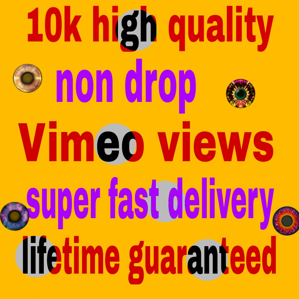10k Vimeo video hits to your video fast delivery