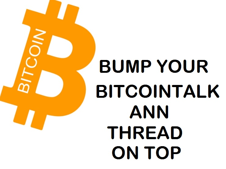 Bump Up Your Bitcointalk Thread
