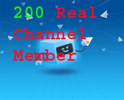 Get very fast real 200 telegram member for your channel