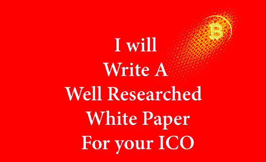 ICO & Blockchain Whitepaper Writing Service Length 800 Words