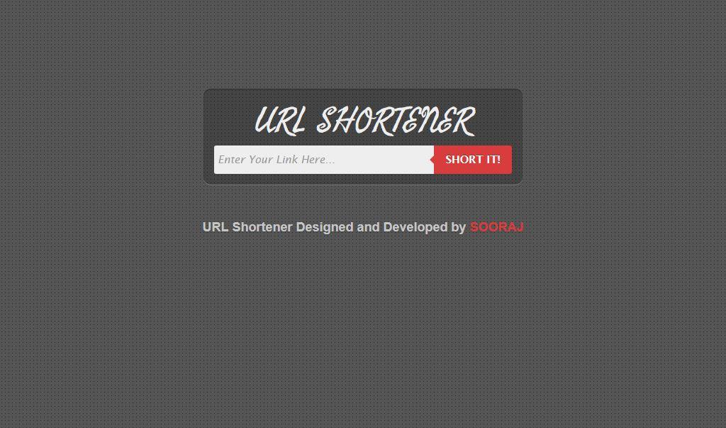 Url Shortening php Script