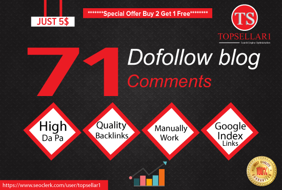 Provide 71 Dofollow Blog Comments Backlinks High Quality and Low Obl Links