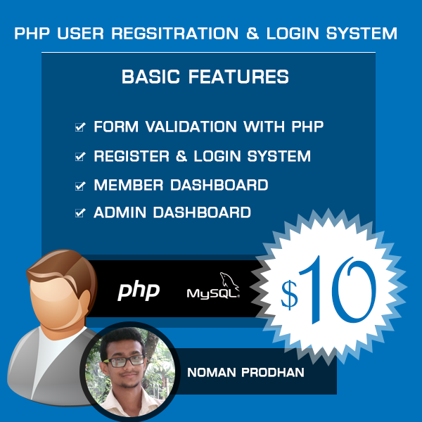Secure PHP & MySQL User Login & Registration System