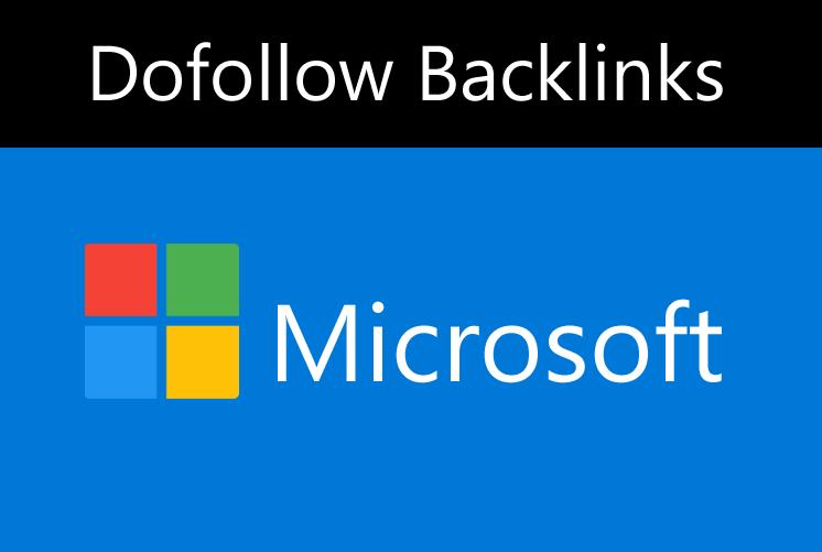 Create High Authority Backlinks On Microsoft