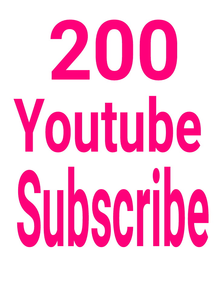 Supper Offer 200 You Tube Sub scribe non dropped fast delivery within 2-4 hours.