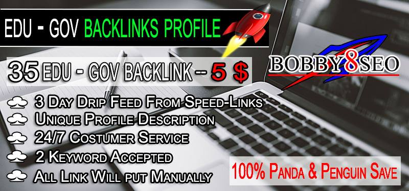 Only 5 Get 30 Baclink Profile Edu / Gov