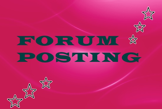 provide 50 forum posting backlinks