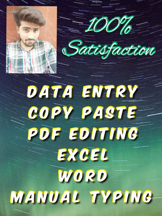 Do Data Entry,  Typing In Excel,  Word Prof,  PDF File Editing