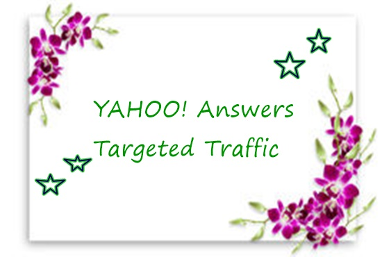 raise your website traffic with 30 yahoo answers