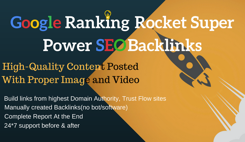 Google Page 1 Ranking Super Power Off-Page SEO Backlinks