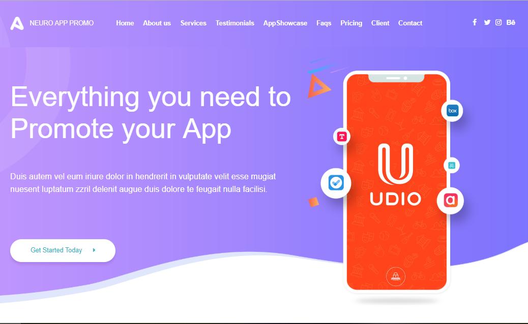 Neuro App Promo Theme