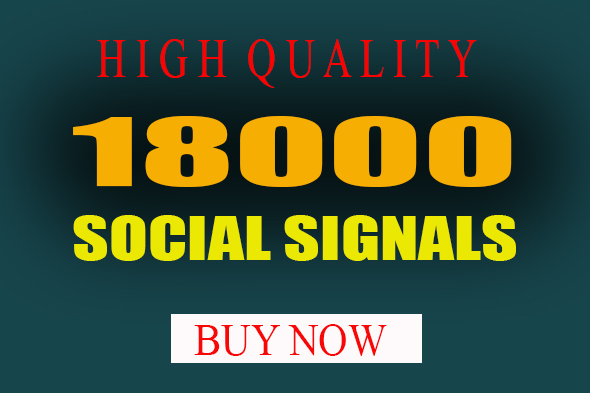 18000 Top seo social signals To website improving