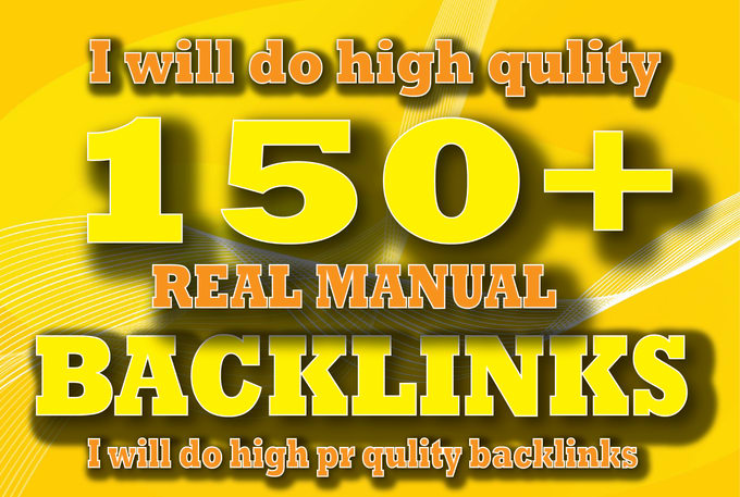 I will Create 150 Manual SEO Backlinks,on Uinque Domains, for you