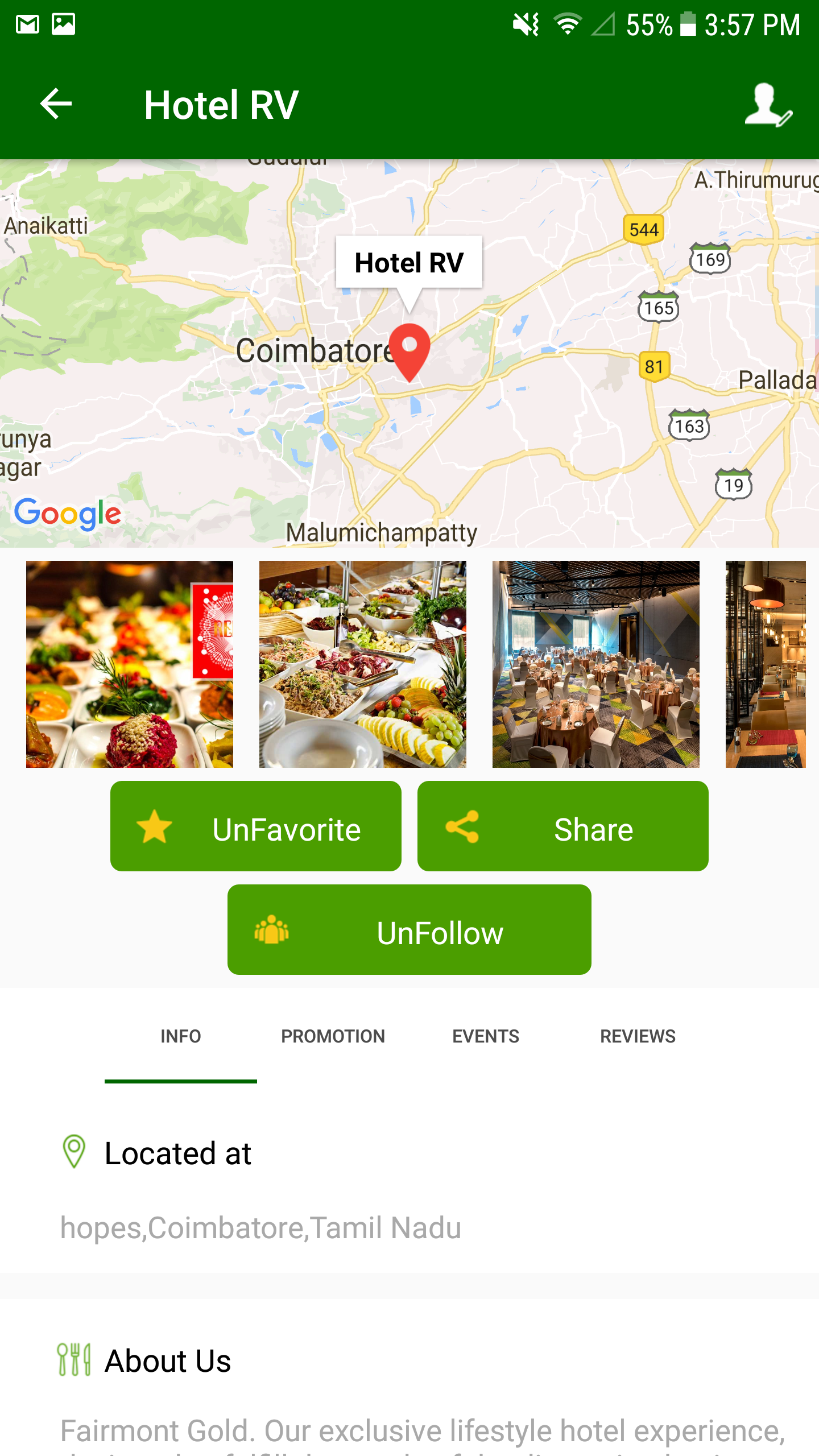 Hotels And Restaurants Finder App - Website & Native Android script