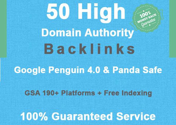 create 50 high domain authority SEO backlinks