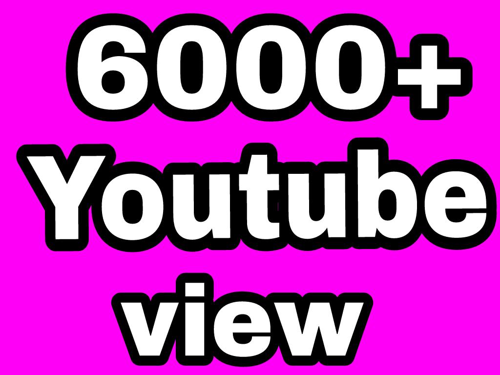 6000-7000 High Quality YouTube Vie'ws+20 Sub Extra Bonus Instant Start