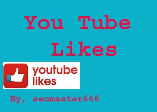 Provide you 1000 real Utube Llkes for your videos