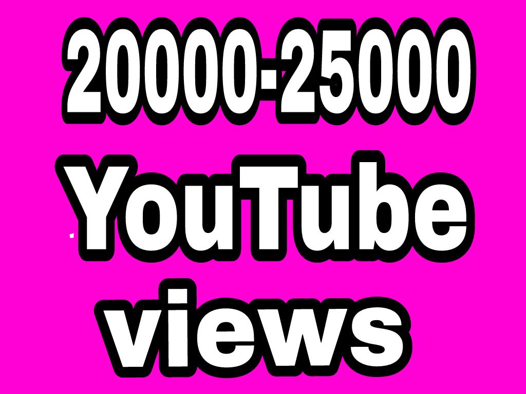 20000 To 25000 High Quality YouTube Vie'ws+50 Sub Extra Bonus Instant Start
