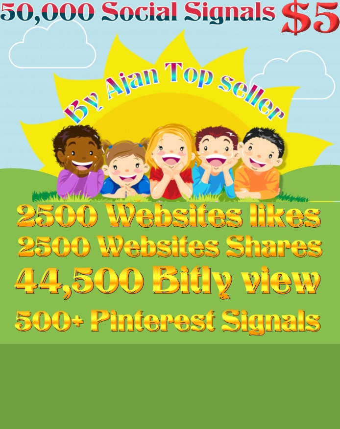 50,000 Social Signals From Top 4 Social Media Websites Increase Your SEO Ranking